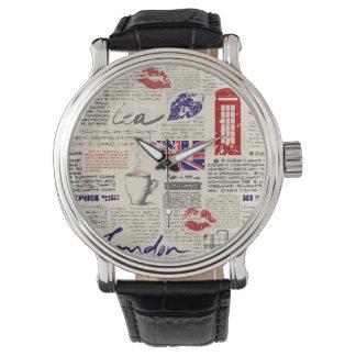 Relógio Teste padrão do jornal de Londres