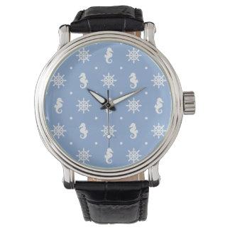 Relógio Teste padrão náutico dos azul-céu