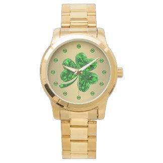 Relógio Trevo esmeralda 1