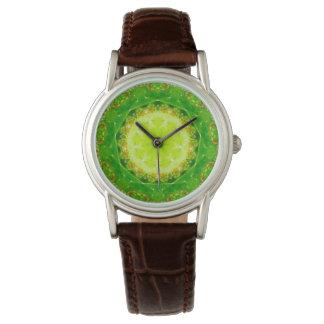 Relógio Um Fractal da armadilha do Succulent