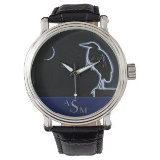 Relógio Um fundo azul elétrico do azul da