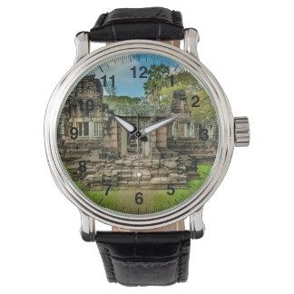 Relógio UNESCO de Cambodia do templo de Angkor Wat