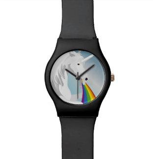 Relógio Unicórnios puking da ilustração