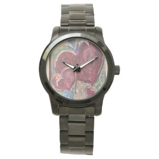 Relógio unisex do tempo dos corações