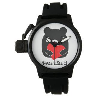 Relógio Urso preto que guardara um coração
