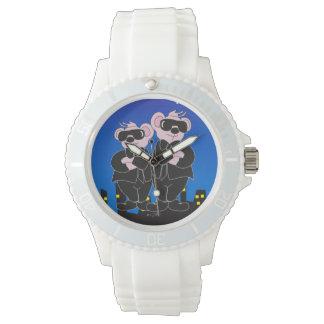 Relógio URSOS no silicone branco desportivo dos DESENHOS