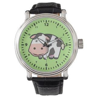 Relógio Vaca de Kawaii