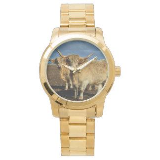 Relógio Vacas fulvas das montanhas,