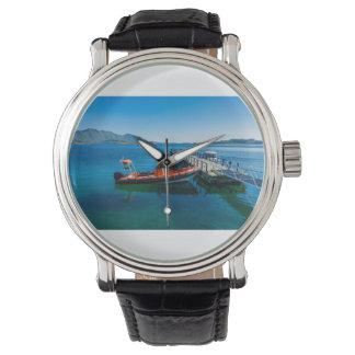 Relógio Veado da aterragem e barco da velocidade