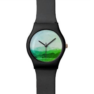 Relógio verde das montanhas