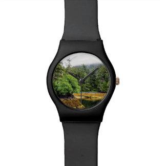 Relógio verdejante das vistas