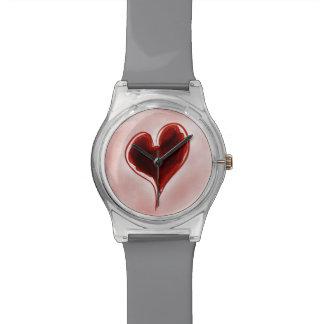 Relógio vermelho 2 do coração