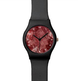 Relógio vermelho da colagem May28th do Grunge