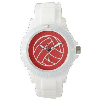 Relógio vermelho do voleibol