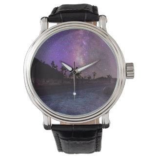 Relógio Via Láctea do parque nacional de árvore de Joshua