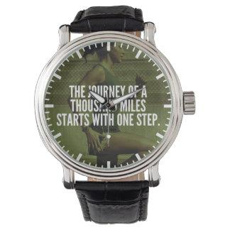 Relógio Viagem de mil milhas - inspiração do exercício