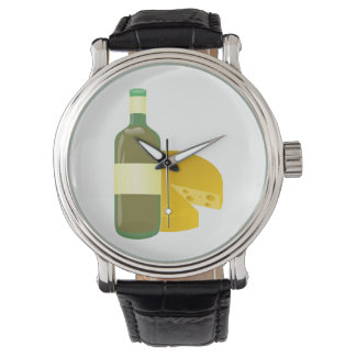 Relógio Vinho e queijo