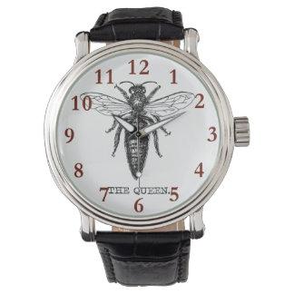 Relógio Vintage da ilustração da abelha de rainha