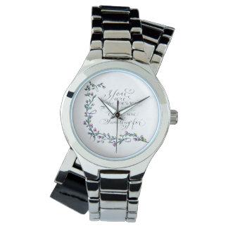 Relógio Você é a tipografia inspirada das citações da