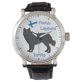 Relógio Watch finlandês Lapphund black Lapinkoira