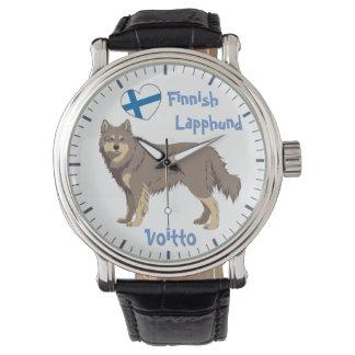 Relógio Watch finlandês Lapphund lilac Lapinkoira