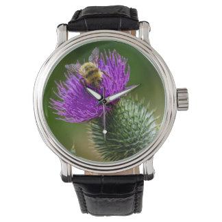 Relógio Wildflowers Pollinating da abelha do deserto em