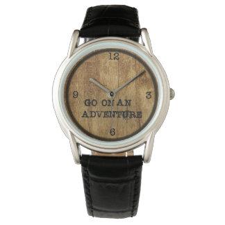 Relógio Woodgrain da aventura Watch||