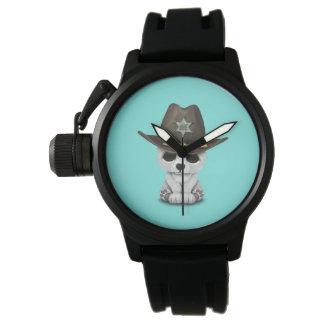 Relógio Xerife bonito de Cub de urso polar do bebê