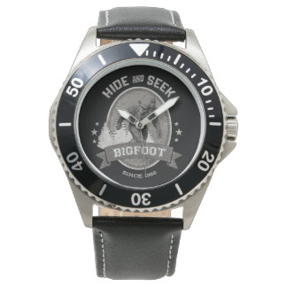 Relógio Yeti de Bigfoot. Sasquatch. Retro, Vintage.