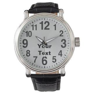 Relógios personalizados do grande número para