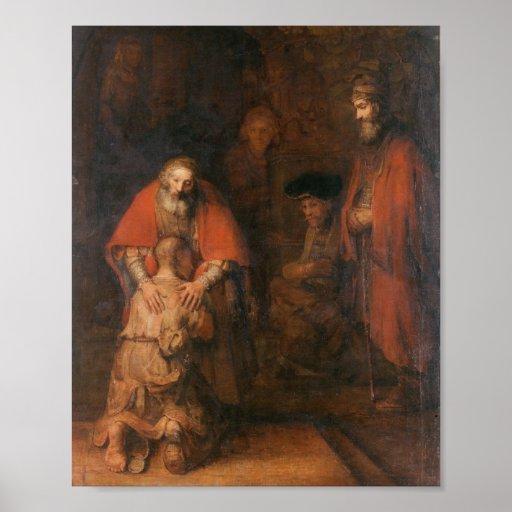 Rembrandt - retorno do filho Prodigal Posters