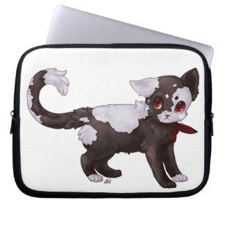 Remenda o gatinho bolsa e capa de notebook