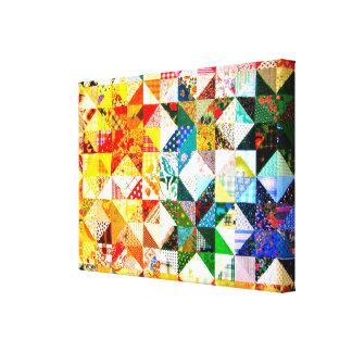 Remendo colorido do projeto impressão de canvas esticadas