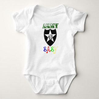 Remendo da identificação do bebê do exército ò t-shirt