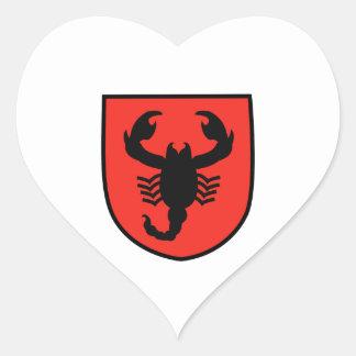 Remendo do escorpião adesivo de coração