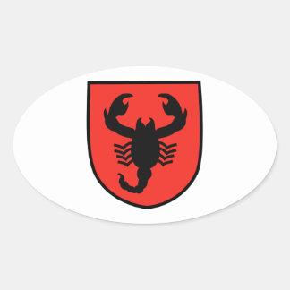 Remendo do escorpião adesivos ovais
