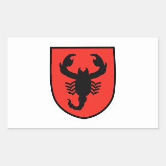Remendo do escorpião adesivo retangular