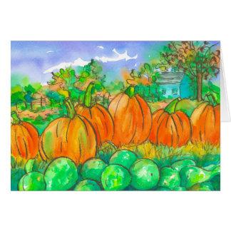 Remendo feliz da abóbora da estação do outono cartão comemorativo