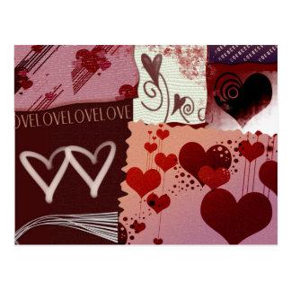 Remendos do coração cartão postal