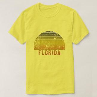 Reminiscência retro do vintage 70s de Florida Camiseta