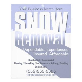 Remoção de neve que ara o modelo customizável 2 modelo de panfletos