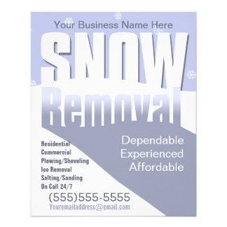 Remoção de neve que ara o modelo customizável panfletos
