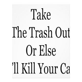 Remova o lixo ou então eu matarei seu gato modelo de panfleto