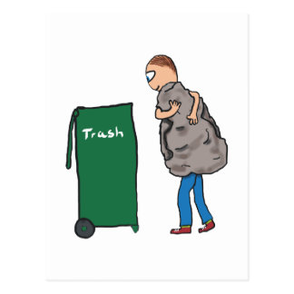 Remova os desperdícios cartão postal