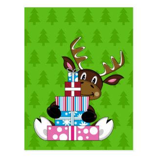 Rena com cartão dos presentes