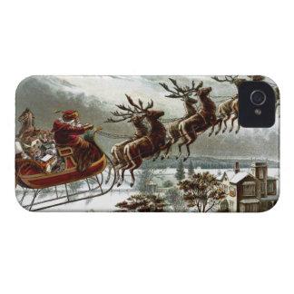Rena de Papai Noel do Victorian do vintage de Nick Capa Para iPhone 4 Case-Mate