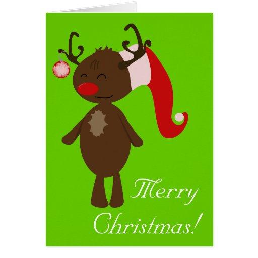 Rena do Natal Cartões