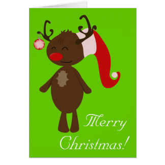 Rena do Natal Cartão Comemorativo