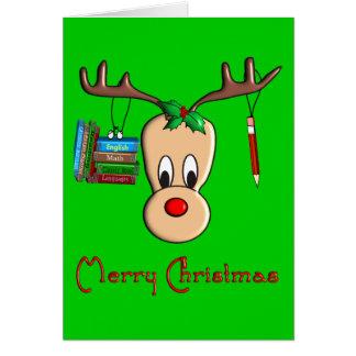 Rena do Natal do professor--Presentes adoráveis Cartões