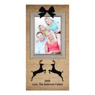 Rena quadro rústica de serapilheira - cartão com cartão com foto